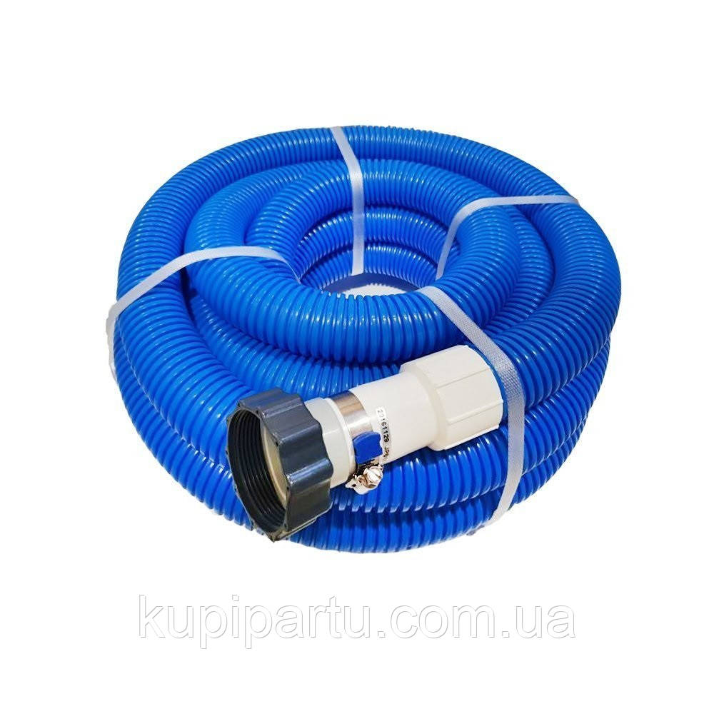 Гофрований шланг з гайками під пісочний насос для віддаленого підключення Intex 29083-2. Довжина 7.6 м,