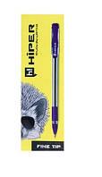 Ручка масляна Hiper Fine Tip - 111 (0.7мм) фіолет. 10шт/уп.