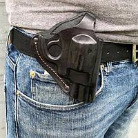 Кобура поясная для револьвера 2,5 формованная (кожа, чёрная), фото 1