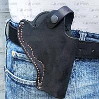 Кобура поясная для револьвера 3 неформованная (кожа, чёрная), фото 1