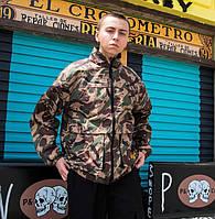 Куртка-ветровка двусторонняя камуфляж и черная крутая модная стильная спортивная от Skate Park Скейт Парк