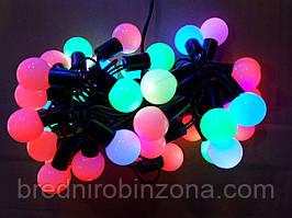 Гирлянда ШАРИКИ 100 LED 16mm  10 метров разноцветная
