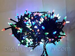 Гирлянда ЕЛКА 200 LED на черном проводе, разноцветная