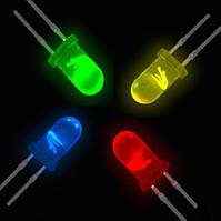 Гирлянда  ЛИЗА  100 LED5mm  на черном проводе, разноцветная