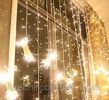 Гірлянда Штора (завіска) 320 LED-5mm, 3m/2m тепло-біла