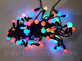 Гирлянда ФИГУРКИ (шарик) 40 LED на черном проводе