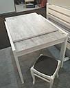 Стол обеденный Слайдер Белый/УРБАН ЛАЙТ, 81,5(+81,5)*67см, фото 2