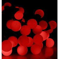 Гирлянда ШАРИКИ 50 LED 16mm  6 метров красные