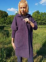 Пальто-кардиган (цвет баклажан), фото 1