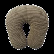 Дорожная подушка оливковая антистресс, полистерольные шарики, размер 30*35см