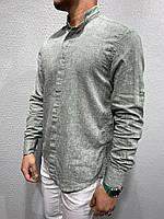 Рубашка мужская белая / ЛЮКС КАЧЕСТВО / весна лето / мужская рубашка белая S, Серый
