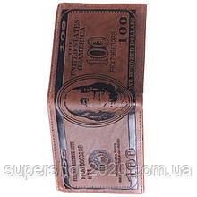 """Чоловічий гаманець """"100 Доларів"""" ,портмоне гаманець"""