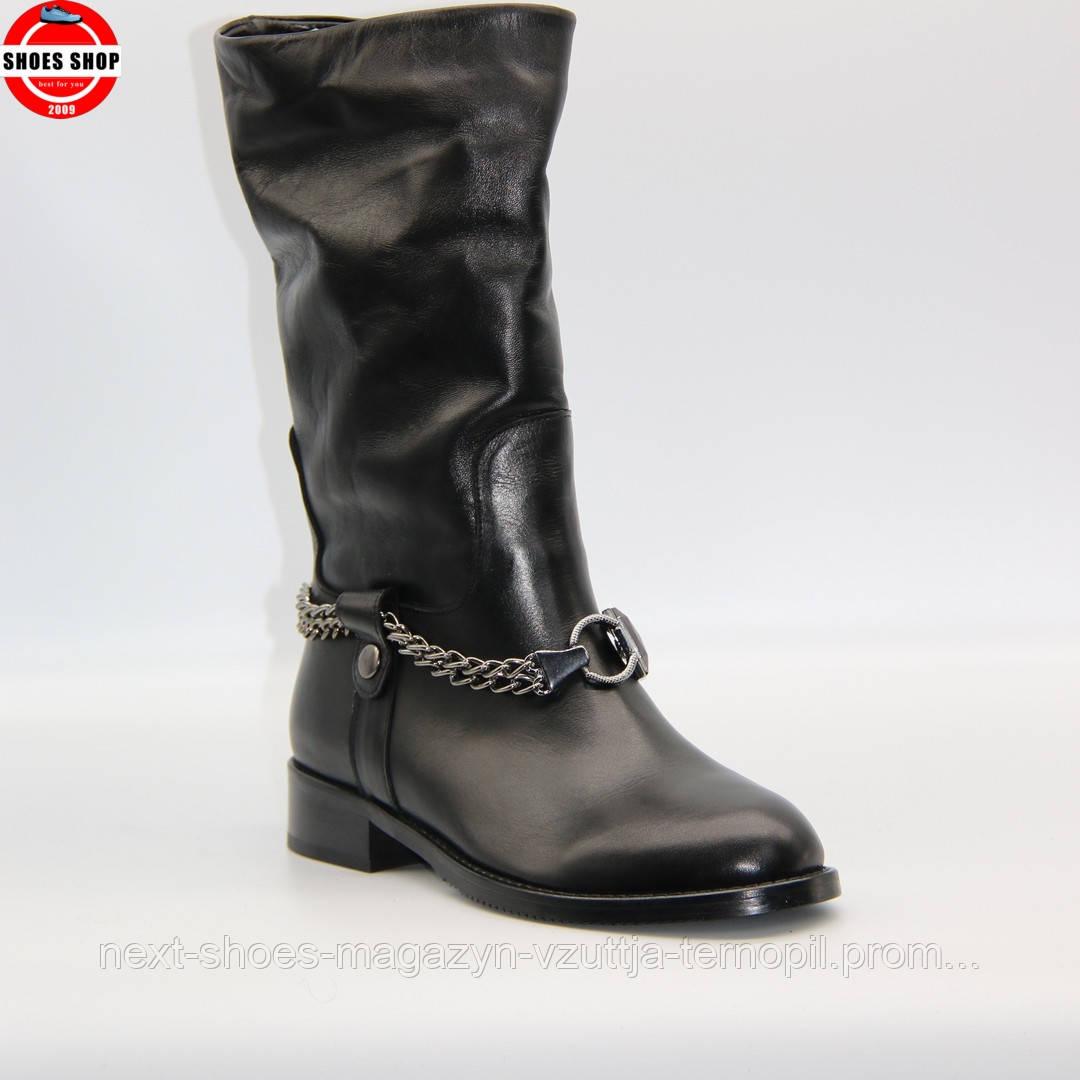 Жіночі чоботи чорного кольору Rizzano (Турція) Дуже зручні та таплі. Стиль - Ромі Стрейд
