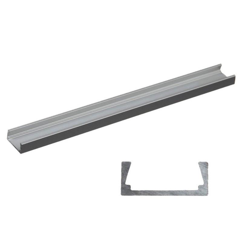 Алюмінієвий LED профіль LP-7 накладної для світлодіодної стрічки, лінійки