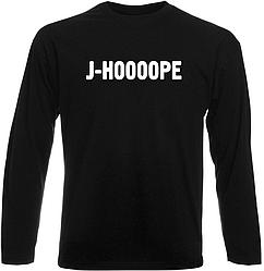 """Футболка с длинным рукавом  BTS Bangtan Boys """"J-HOOOOPE"""" (чёрная)"""
