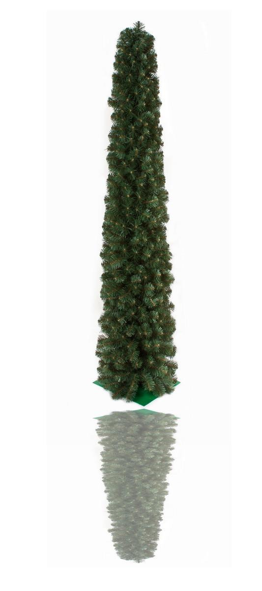 Елка искусственная - Туя, 210 см, из двух частей, металлическая ножка, туя, зеленый, ПВХ (ТМ1)