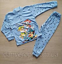 Пижама детская модная на мальчика 2-6 лет купить оптом со склада 7км Одесса