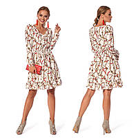Романтичное платье для девушки (р.44,46,48,50 ) софт молочный