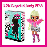 """Игровой набор с куклой L.O.L. SURPRISE! серии """"O.M.G."""" - ДИВА (с аксессуарами) DIVA"""
