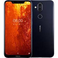 Закаленное защитное 5D стекло ПОЛНАЯ ПРОКЛЕЙКА (на весь экран) для Nokia 8.1 (выбор цвета)