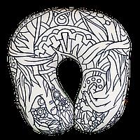 Арт-подушка под голову антистресс раскраска, полистерольные шарики, размер 35*40см