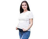 825 футболки для кормящих мам белая