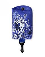 """Складывающаяся сумка для покупок """"Бабочка"""", Брелок синяя"""