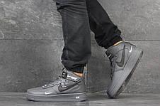 Мужские высокие кроссовки Nike Air Force AF 1,серые 44р, фото 2