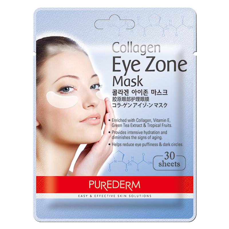 Патчи для кожи вокруг глаз с коллагеном PUREDERM Collagen Eye Zone Mask 30 шт