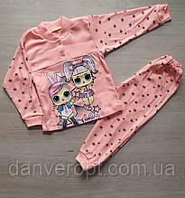 Пижама детская стильная на девочку 2-6 лет купить оптом со склада 7км Одесса