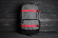 Спортивный серый рюкзак для ноутбука Reebok Рибок