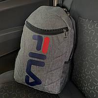 Серый спортивный рюкзак для ноутбука Fila Фила