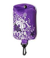 """Складывающаяся сумка для покупок """"Бабочка"""", Брелок фиолетовая"""