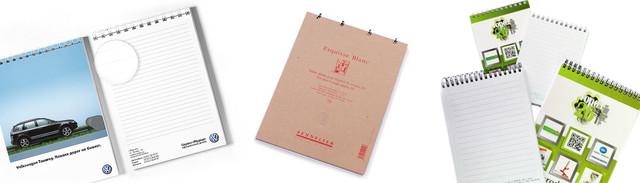 Изготовление фирменных блокнотов, блокноты на пружине металлической, блокноты на заказ