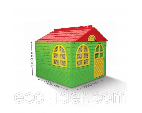 Детский игровой домик пластиковый 120*129*129 см Украина