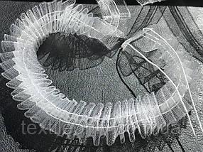 Гардинная лента для штор прозрачная силиконовая 25 мм