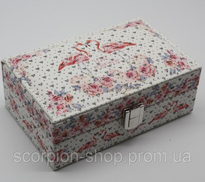 """Шкатулка для украшений """"Flamingo"""" (16*10*5,5 см) кожзам"""
