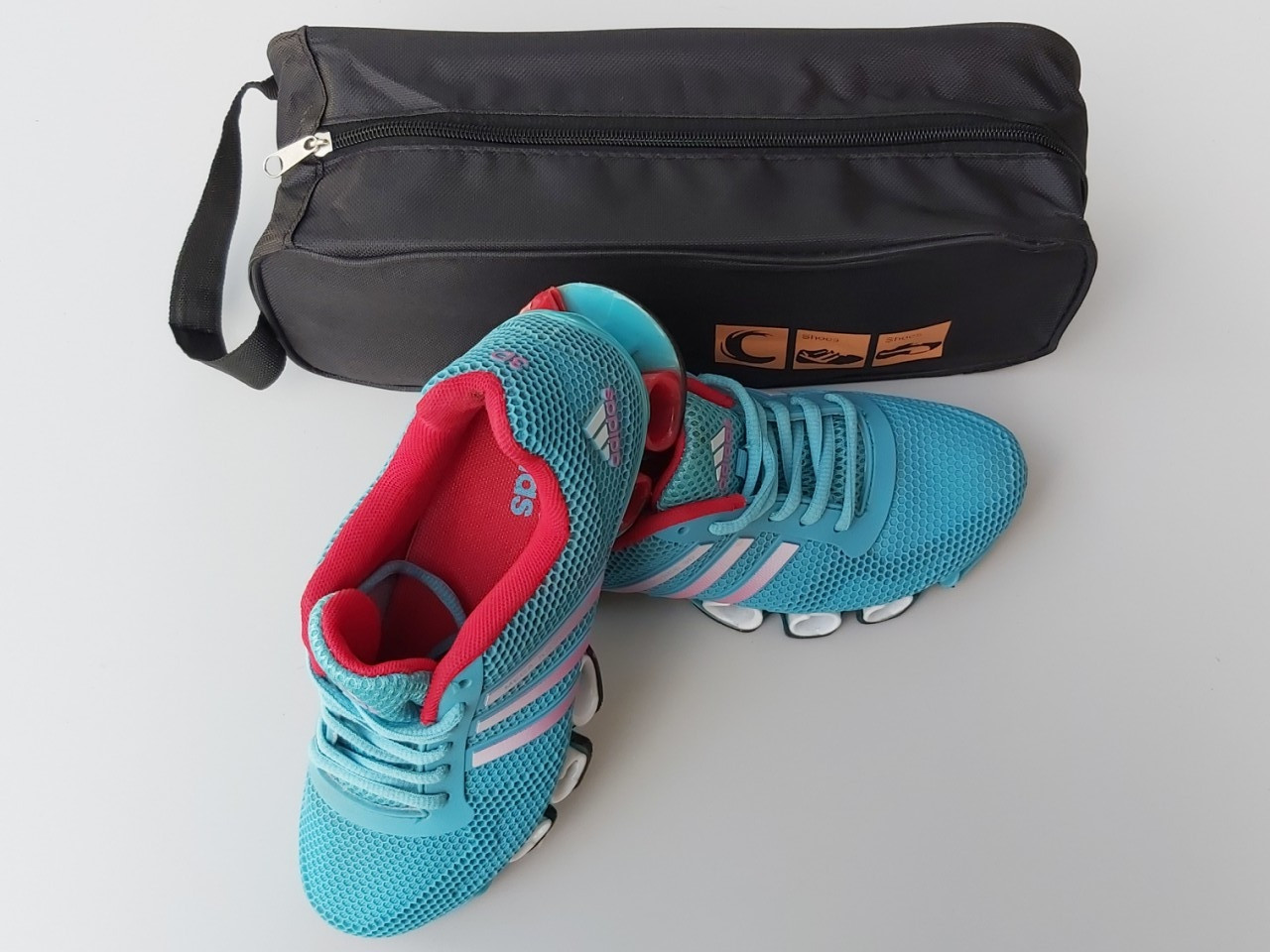 Чехол-сумка черного цвета для хранения и упаковки обуви с прозрачной вставкой, длина 33 см