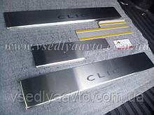 Накладки на пороги Renault CLIO III 5-дв. (2005-2012) (Standart)