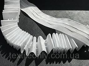 Гардинная лента для штор белая хб 25 мм
