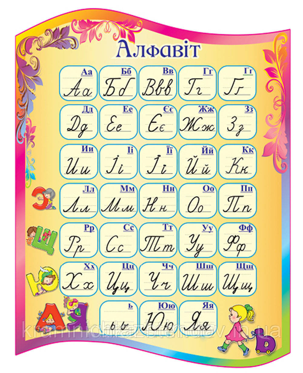 """Стенд для начальной школы """"Алфавит"""""""