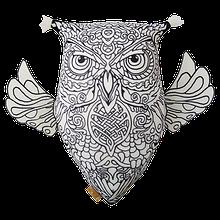 Арт-подушка игрушка антистресс раскраска, полистерольные шарики Сова с крыльями