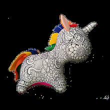 Арт-подушка игрушка антистресс раскраска, полистерольные шарики Единорог