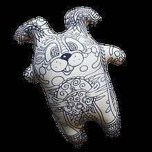 Арт-подушка игрушка антистресс раскраска, полистерольные шарики Заец