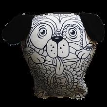 Арт-подушка игрушка антистресс раскраска, полистерольные шарики Щенок