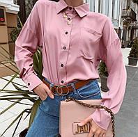 Женская рубашка oversize / штапель / Украина 13-203-2, фото 1