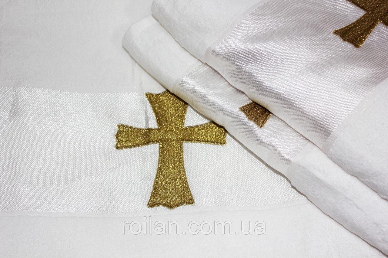 Крыжма для крещения турецкая Золотой крестик