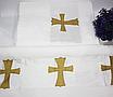 Крыжма для крещения турецкая Золотой крестик, фото 2