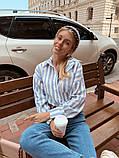 Женская рубашка oversize / лён / Украина 13-203-3, фото 2