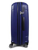 Средний чемодан пластиковый из полипропилена Snowball на молнии синий, фото 3